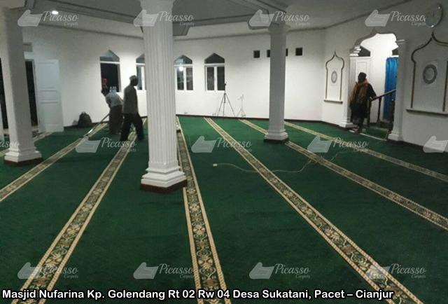 Karpet Masjid Hijau Cianjur