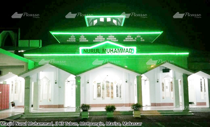 Karpet Masjid Nurul Muhammad Jl Ks Tubun Mottoangin Mariso Makassar