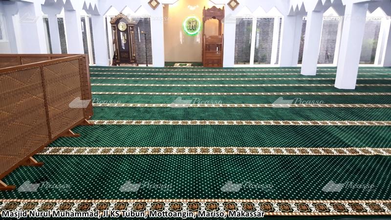 karpet masjid hijau makassar