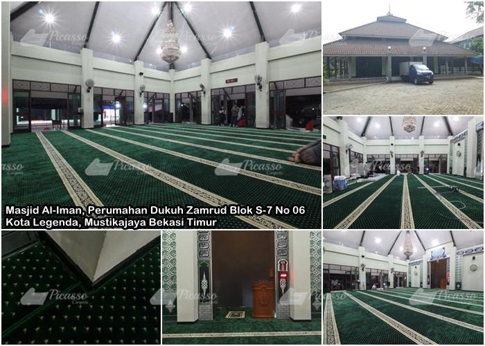Karpet Masjid Al-Iman, Kota Legenda, Mustikajaya Bekasi