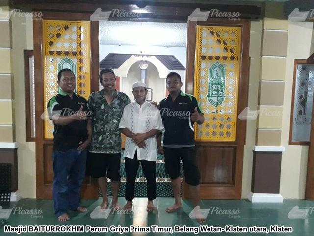Karpet Masjid Baiturokhim Perum Griya Prima Timur Klaten