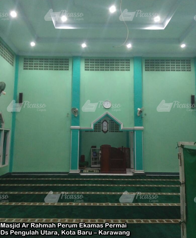 Karpet Masjid Ar Rahmah Perum Ekamas  – Karawang