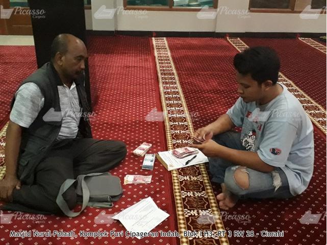 Karpet Masjid Nurul Falaah Komp Puri Cipageran Indah Cimahi