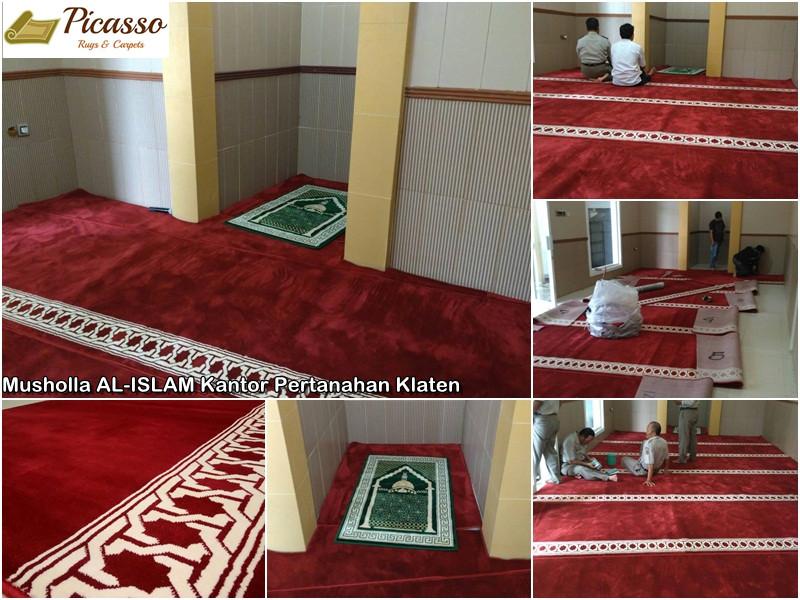 Karpet Masjid di Musholla AL-ISLAM Kantor Pertanahan Klaten