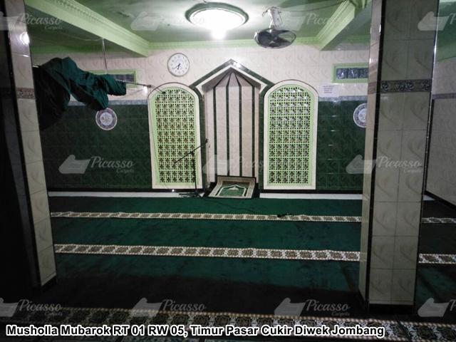 karpet masjid hijau jombang