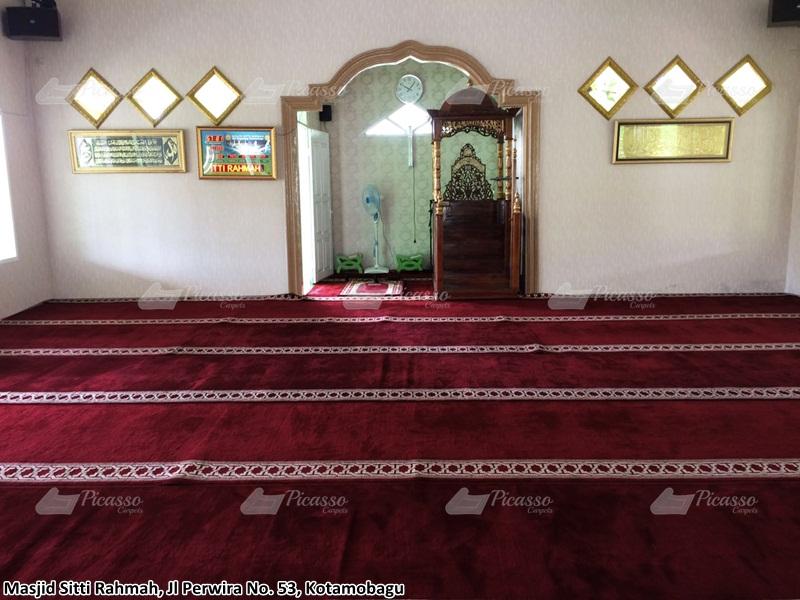 Karpet Masjid Sitti Rahmah Kotamobagu Sulawesi Utara