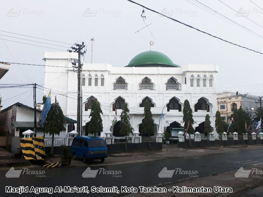 Karpet Masjid Agung Al Ma'rif, Selumit, Tarakan, Kalimantan Utara