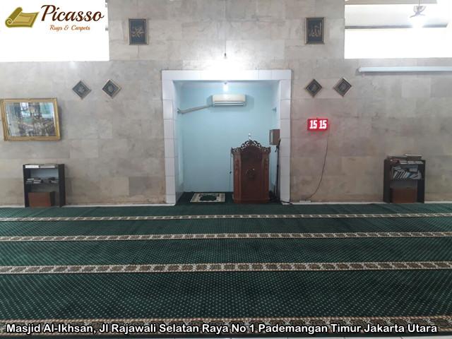 Karpet Masjid Al-Ikhsan, Pademangan Timur Jakarta Utara