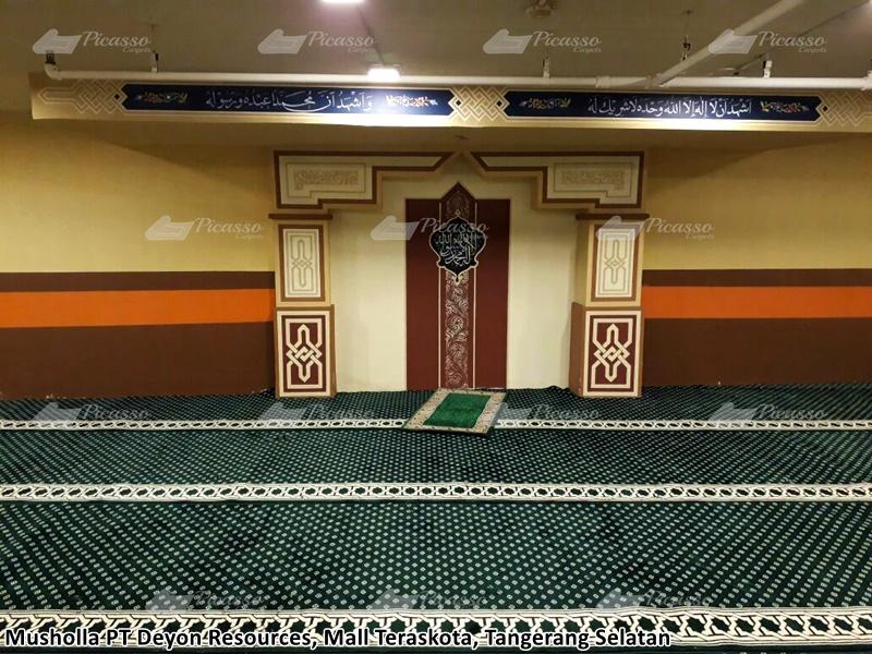jual karpet masjid minimalis hijau