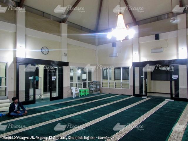 karpet masjid hijau kebonsari surabaya