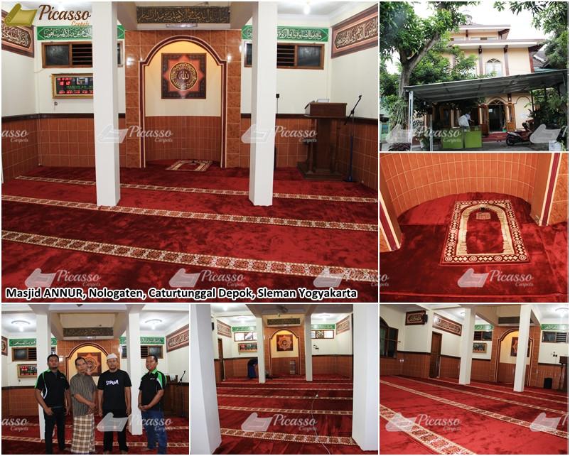 Karpet Masjid An-Nur, Nologaten Caturtunggal Depok, Ambarukmo- Sleman