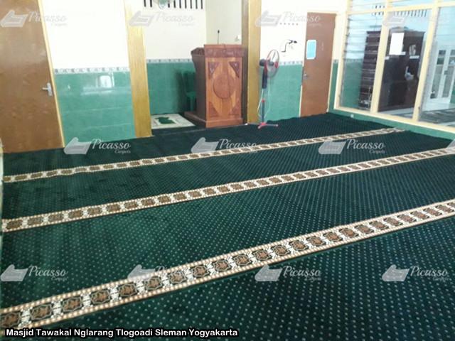 Karpet Masjid Tawakal Nglarang Tlogoadi Sleman Yogyakarta