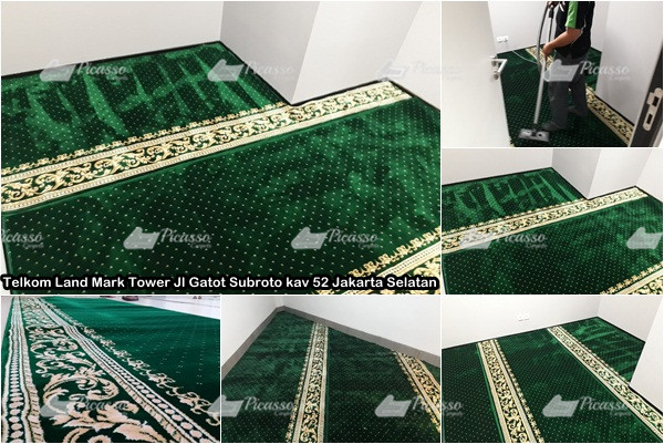 Karpet Masjid di Telkom Land Mark Tower Gatot Subroto Jak-Sel