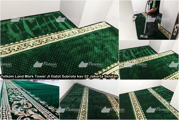 Karpet Masjid di Telkom Land Mark Tower Gatot Subroto Jak-Sel