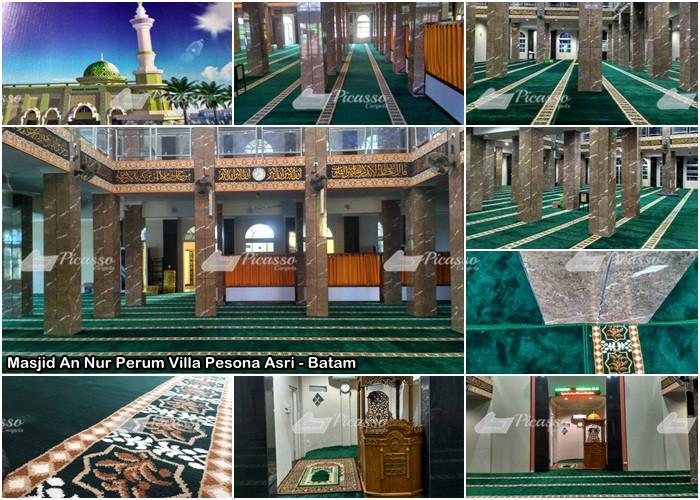 karpet Masjid An Nur Perum Villa Pesona Asri Kecamatan Batam - Batam