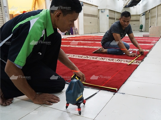Apa itu Metode Setting Karpet Masjid By Layout?