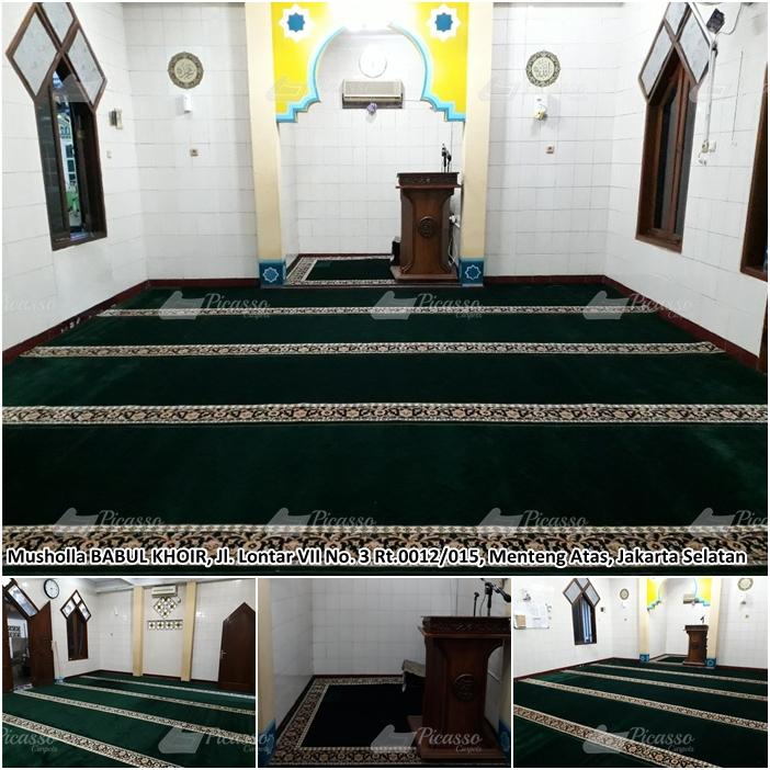 Karpet Masjid di Musholla Babul Khoir, Menteng Atas, Jaksel