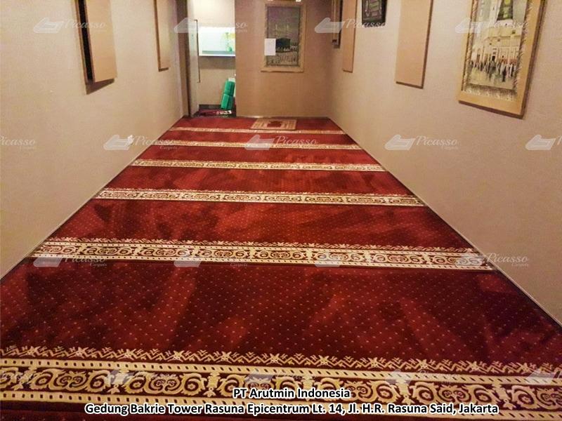 Karpet Masjid di Musholla PT. Arutmin, Gedung Bakrie Tower, Jaksel