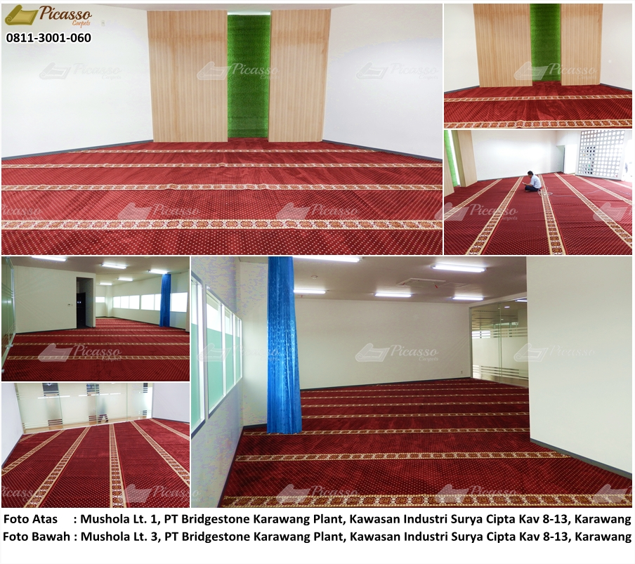 Karpet Masjid di Musholla PT. Bridgestone Karawang Plant, Karawang, Jawa Barat