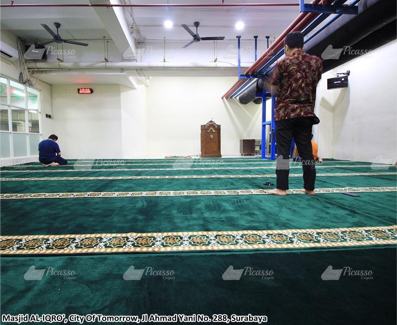 karpet masjid hijau, cito mall surabaya