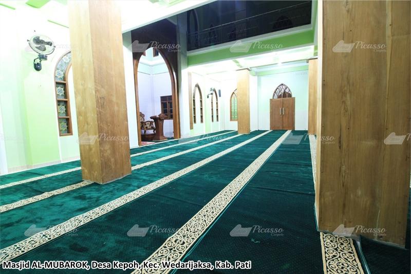karpet masjid hijau, pati