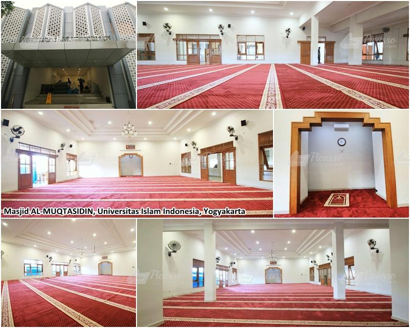 Karpet Masjid Al Muqtasidin, Kampus UII, Jogja