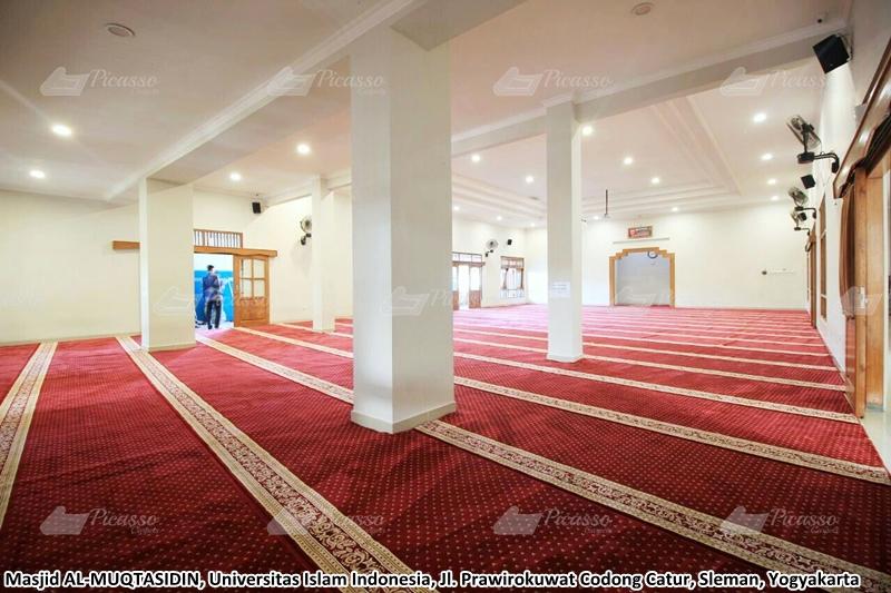 karpet masjid merah, kampus uii, jogja