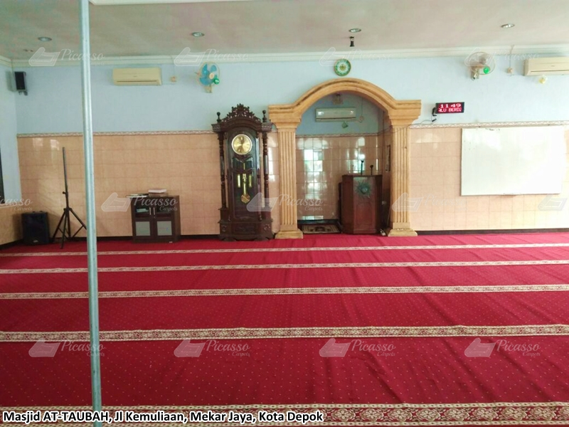 Karpet Masjid At-Taubah Jl Kemuliaan, Mekarjaya, Depok