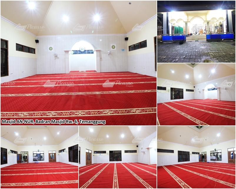 Karpet Masjid Jami An-Nur Badran, Temanggung, Jawa Tengah