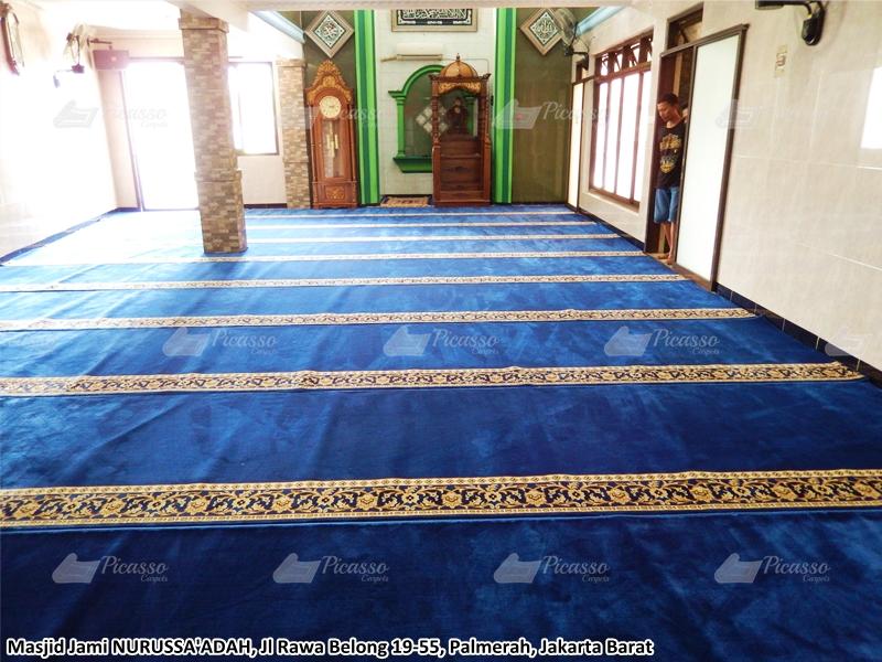 karpet masjid biru, palmerah, jakbar