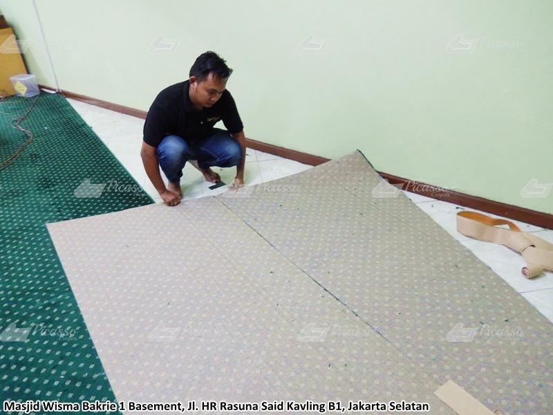 karpet masjid hijau, jaksell