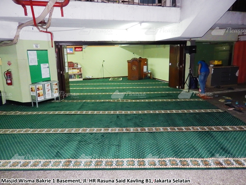 Karpet Masjid Wisma Bakrie 1, HR Rasuna Said, Jaksel