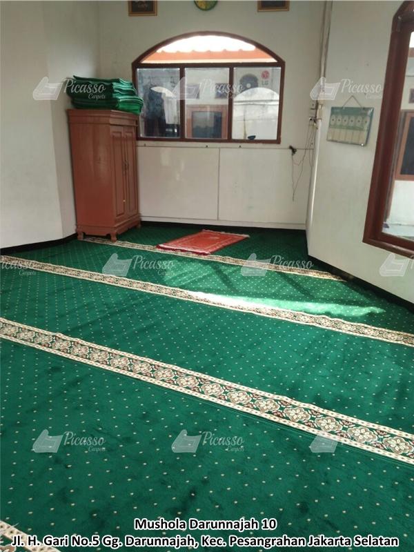 karpet masjid hijau, pesanggrahan, jaksel
