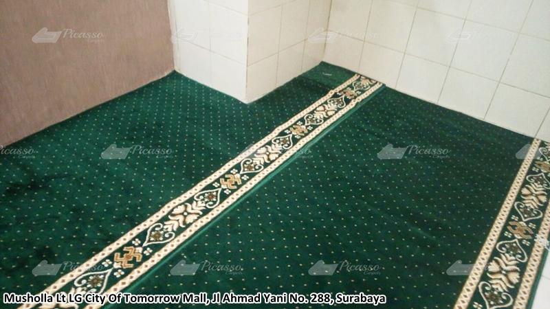 karpet masjid hijau, cito mall, surabaya