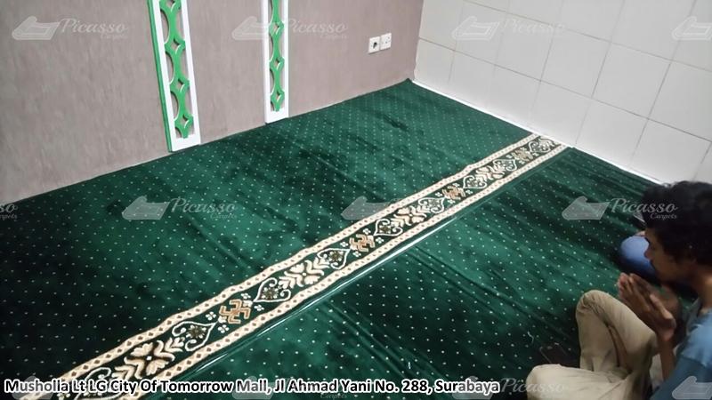 Karpet Masjid di Musholla LG City Of Tomorrow Mall, Surabaya