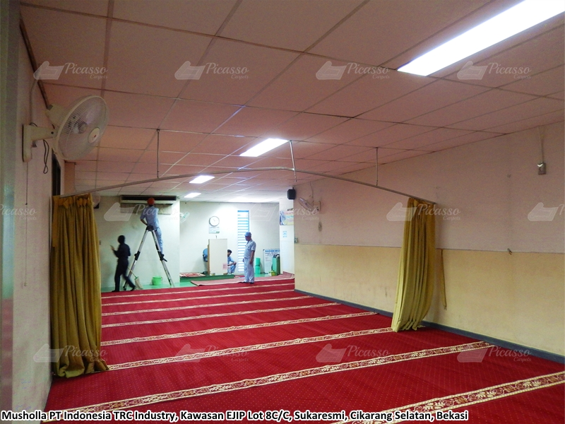 karpet masjid merah, bekasi