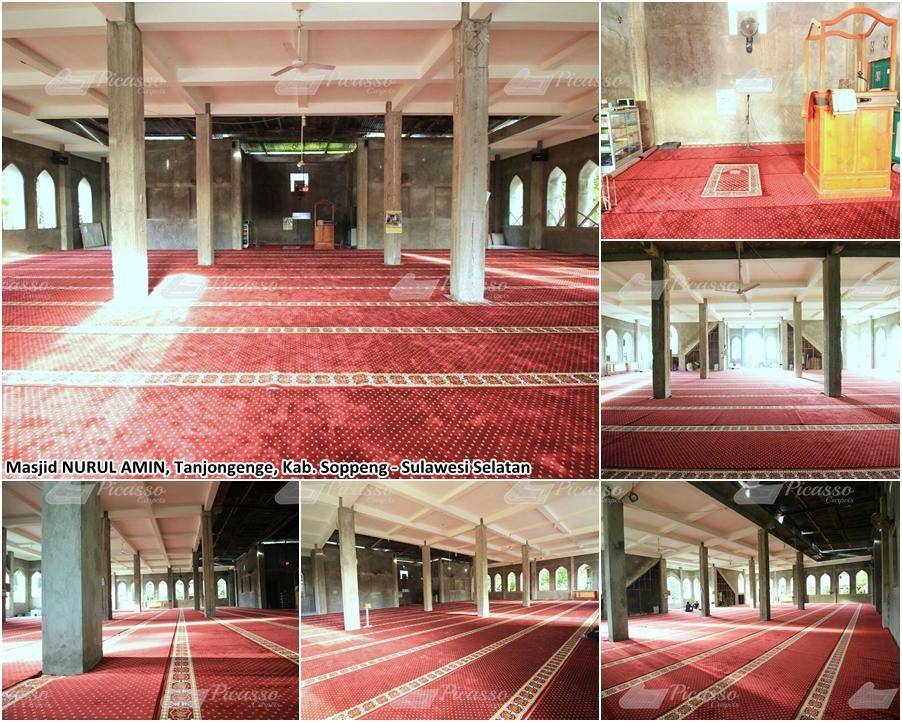 Karpet Masjid Nurul Amin, Soppeng, Sulawesi Selatan