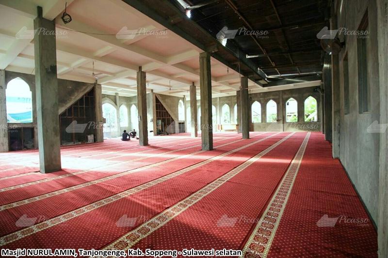 karpet masjid merah, soppeng, sulawesi selatan