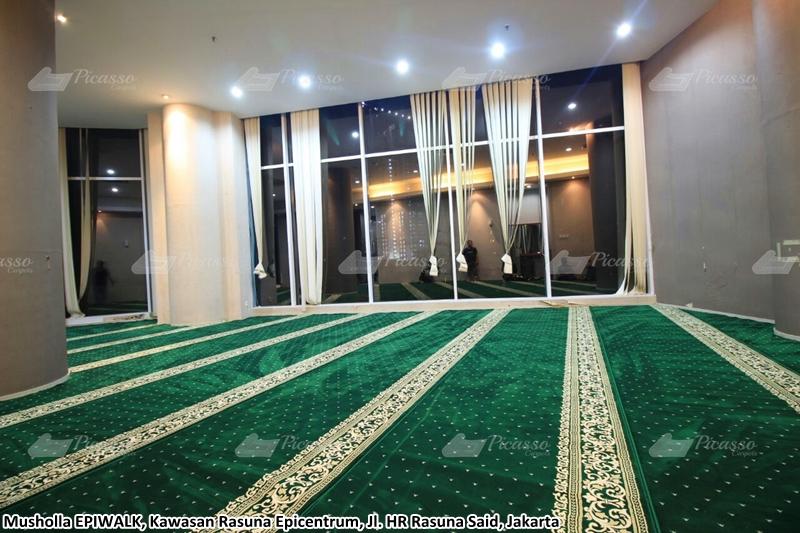 Karpet Masjid di Musholla Epiwalk, Jl. HR. Rasuna Said, Jakarta