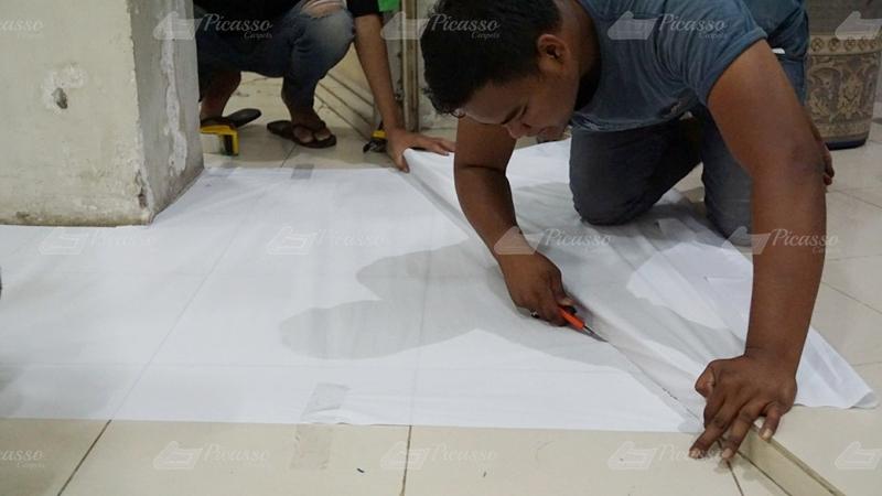Tutorial membuat replika ruang masjid dengan metode mal/menjiplak