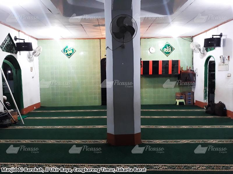 karpet masjid minimalis hijau