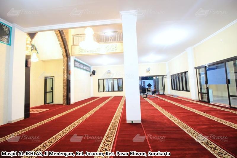 Karpet Masjid Al-Ikhlas Pasar Kliwon Surakarta