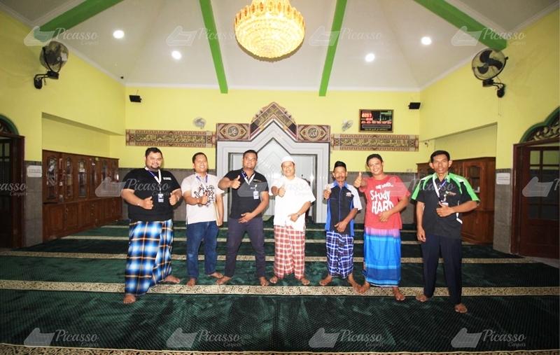 Karpet Masjid Arrahmah, Malangrejo, Wedomartani, Sleman