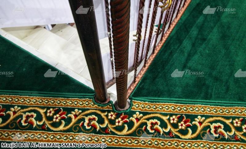karpet masjid hijau, purworejo