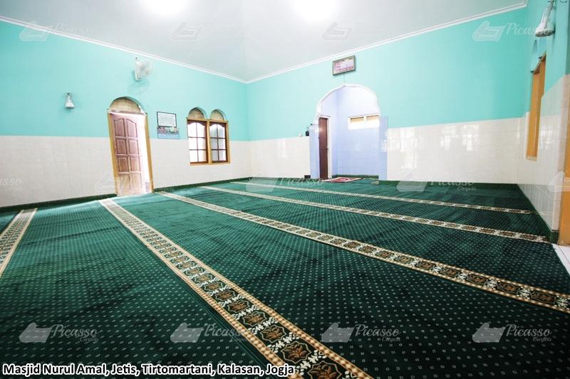 karpet masjid hijau, kalasan jogja