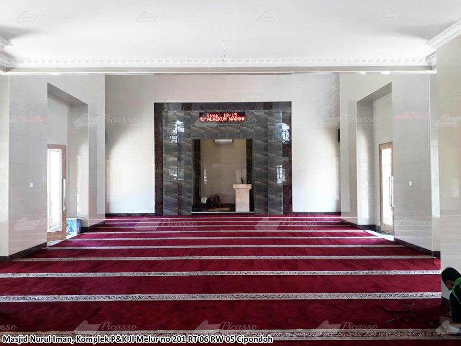 karpet masjid merah, cipondoh, tangerang