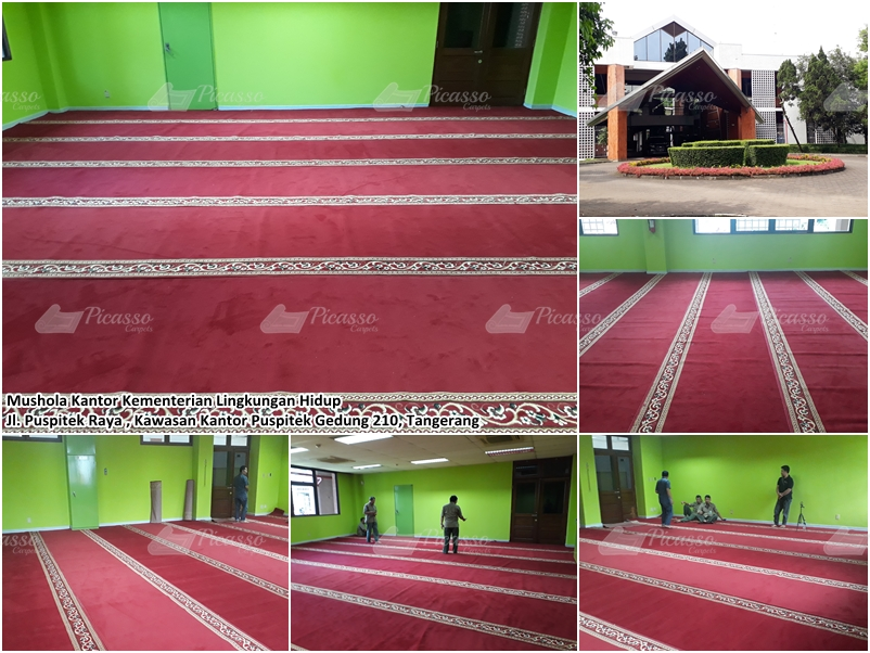 Karpet Masjid di Musholla Kantor Kementrian Lingkungan Hidup Tangerang