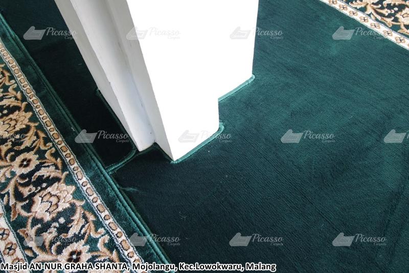 karpet masjid hijau, malang