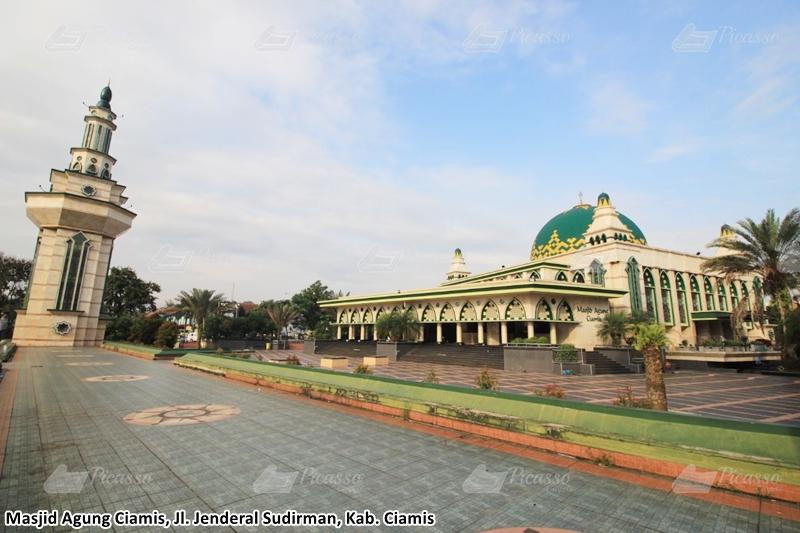 karpet masjid hijau, ciamis