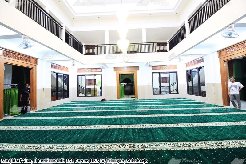 Karpet Masjid Al-A'laa, Perum UNS IV, Triyagan, Sukoharjo